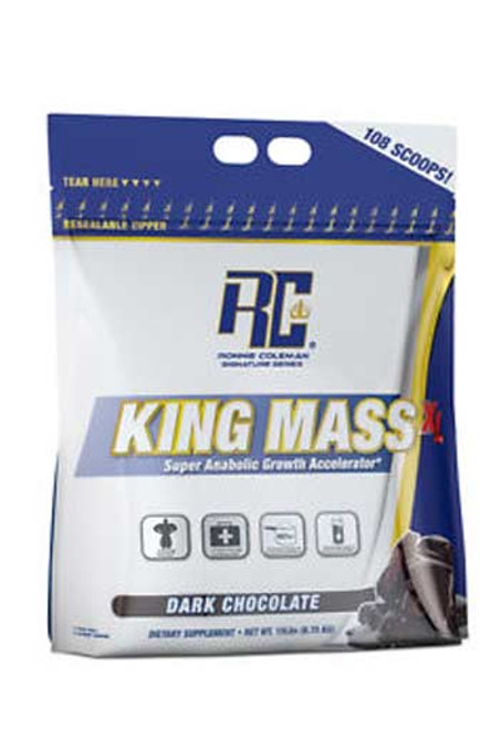 Ronnie Coleman King Mass XL Weight Gainer - Dark Chocolate, 15 Lbs