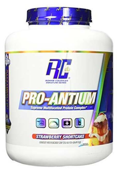 Ronnie Coleman Pro - Antium Protein Powder - Strawberry ShortCake, 5.6 Lbs