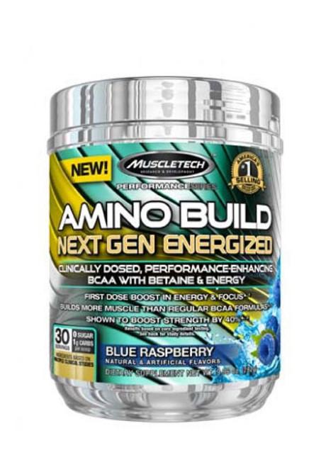 Muscletech Amino Build Next Gen - Blue Raspberry, 30 Servings
