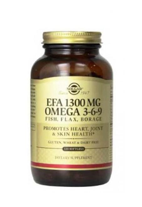 Solgar Omega 3 6 9, EFA 1300Mg Non Flavoured 120 Soft Gels