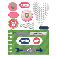 Sizzix Thinlits Die Set 20PK - Notebook Base w/ Layering Shapes 660110