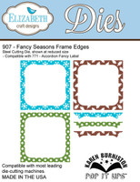 Karen Burniston Pop It Up Elizabeth Craft - Fancy Season Frame Edges 907