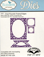 Karen Burniston Retired Pop It Ups by Elizabeth Crafts - Oval Flourish Frame Edges 777