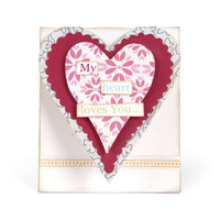 Sizzix Bigz L Die - Mini Heart Card 658478