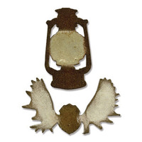 Sizzix Bigz Movers & Shapers Magnetic Die Tim Holtz - Mini Lantern & Antlers 658774