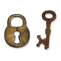 Sizzix Movers & Shapers Magnetic Die Tim Holtz - Mini Lock & Key Set 657213