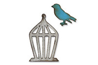 Sizzix Movers & Shapers Magnetic Die Tim Holtz - Mini Bird & Cage Set 657207