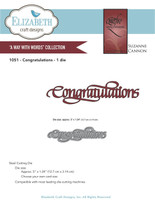 Elizabeth Craft Design Die - Quietfire Congratulations 1051