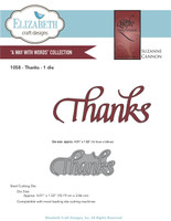 Elizabeth Craft Design Die - Quietfire Thanks 1058