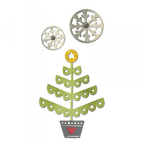Sizzix Thinlits Die Set - Christmas Tree & Snowflakes 660726