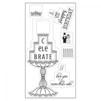 Sizzix Interchangeable Clear Stamps - Cake Celebrations 660557