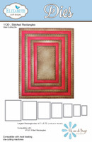 Elizabeth Craft Designs - Stitched Rectangles 1120