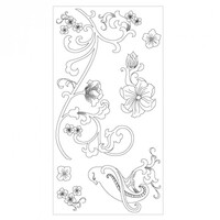 Sizzix Clear Stamps - Bird & Vines 660632