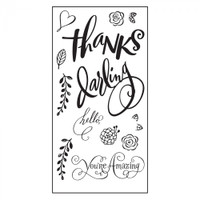Sizzix Clear Stamps Brenda Walton - Hello Darling 661091