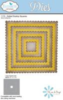 Elizabeth Craft Designs - Dotted Scallop Square Frames 1175