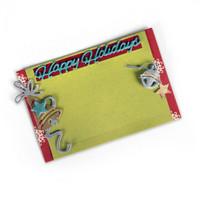 Sizzix Thinlits Die Set 5PK - Gift Card Holder Happy Holidays 661553