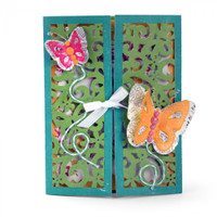 Sizzix Thinlits Die Set 10PK - Gatefold Card Butterflies 661390
