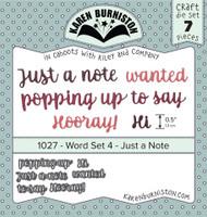 Karen Burniston - Word Set #4 Just a Note 1027