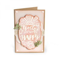Sizzix Thinlits Die - You Are My Happy 661944