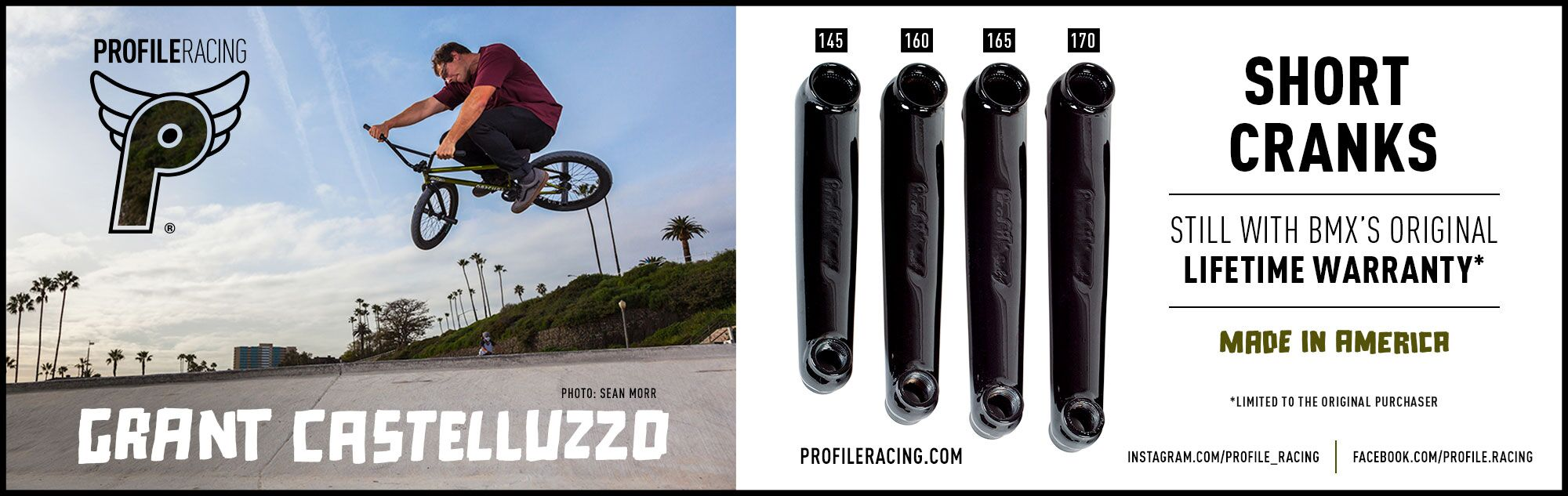 Profile Racing BMX Cranks available in Many Sizes at Albe's BMX