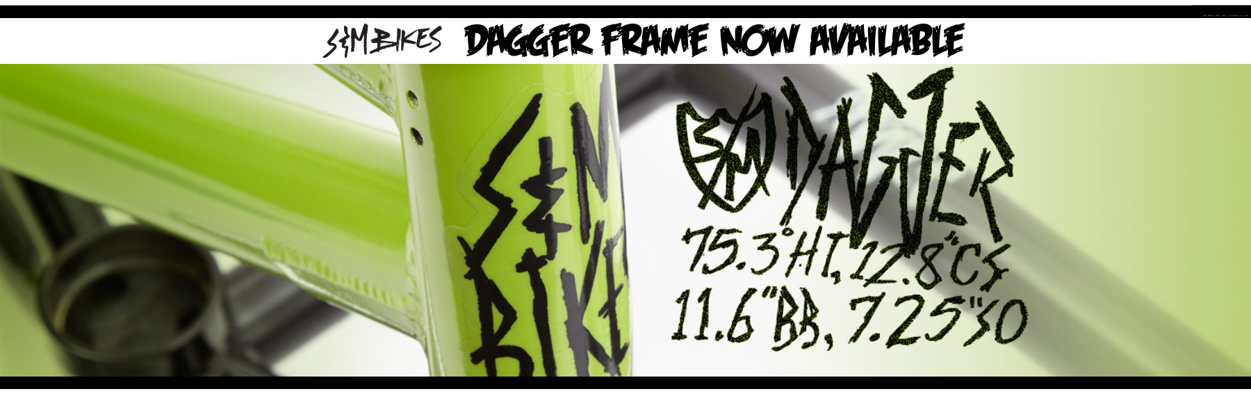S&M Dagger BMX Frame available at Albe's BMX