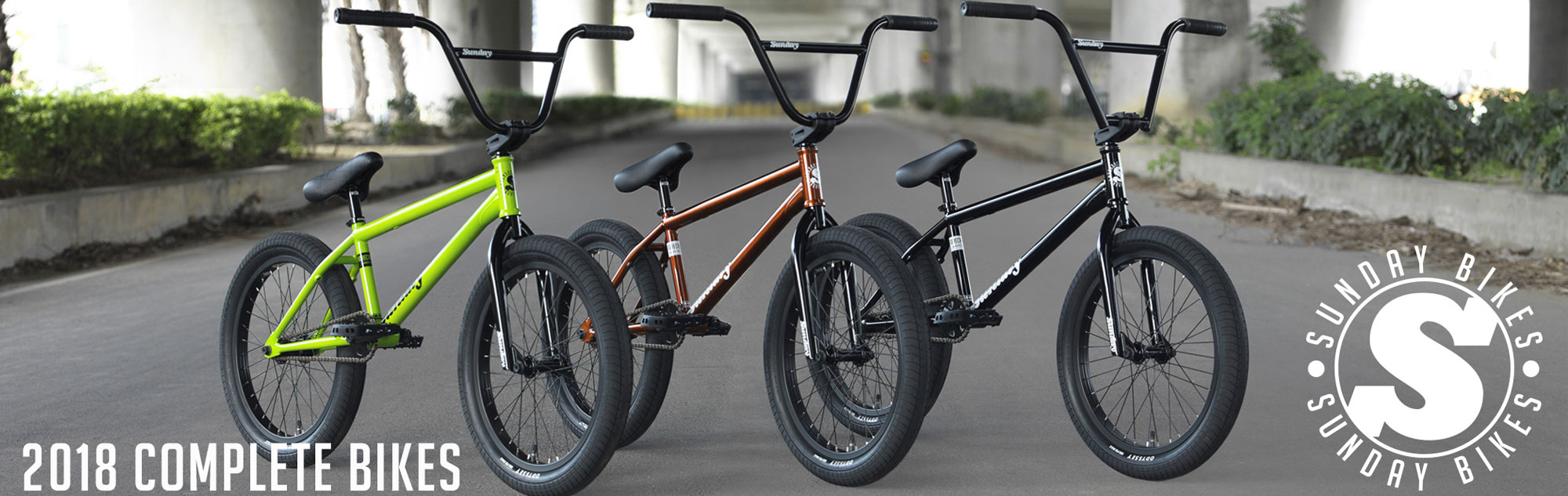 The 2018 Sunday BMX Bikes now available at Albe's BMX Bike Shop