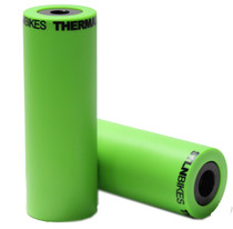 Stolen Silencer BMX Pegs in Gang Green Color at Albe's BMX