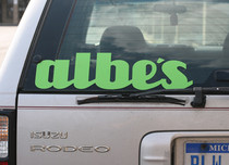 "Albe's ""Uni-Bal"" 20"" Die Cut Sticker"