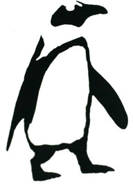 Albe's Penguin 3inch Die Cut sticker