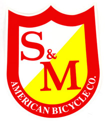 S&M BIG SHIELD STICKER