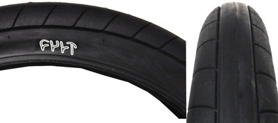 Cult Dehart Slick BMX Tire in Black at Albe's BMX