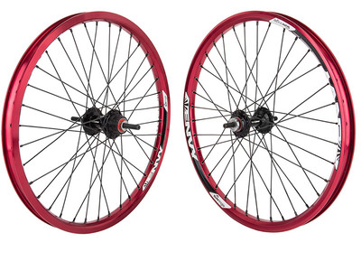 Sun Envy BMX wheelset in red at Albe's BMX