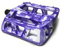 Odyssey BMX Twisted PC Pedals in Tie Dye Purple at Albe's BMX