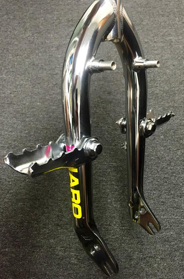 Haro Lineage fork with flip up wrap around fork standers at Albe's BMX