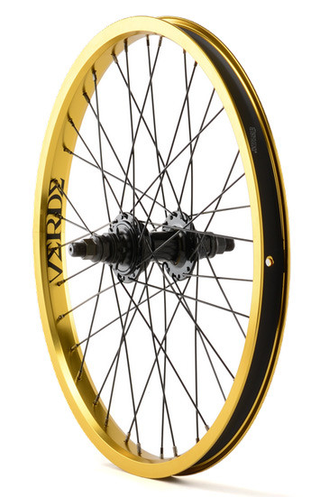 Verde Regent Rear Cassette BMX Wheel in Gold at Albe's BMX Shop