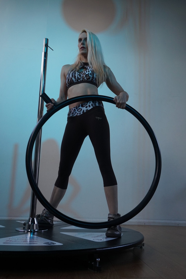 "An in-house test was carried out with Julie Fox from Hell on Heelz.  See her comments below  ""I absolutely loved using the Lollipop Lyra. It was a fun combination of both Pole and Lyra. As a frequent user of freestanding poles I'm always aware of the 'bounce' you tend to get whilst using them, so I was surprised to experience very little wobble, if any during the testing. I also rarely put my pole on spin and so I was a little nervous at first, but the design and quality of the product meant these nerves soon disappeared and I did not feel like I needed any mats. My worry about spinning was also very quickly overcome as it was so much fun and so secure to use and looks more effective when on spin than static. When I did my first tentative special K in the hoop I was surprised (but very pleased) that there was very little flex on the pole.  Things I might change, to be honest there isn't much here. Potentially I might decrease the thickness of the hoop, the thickness currently means it is very comfortable to use and sit on but, I think hand grip would be increased if it were 5mm or so smaller. (However, I didn't really struggle with grip and was happily dead lifting on it as it was)"