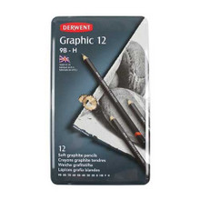 Derwent Graphic Sketching Set 12 Pencils (Soft)