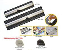 "Aluminium Rule & Cutter - 15"" / 40cm"