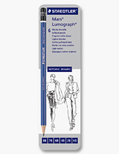 Staedtler Mars Lumograph - Set of 6 - 6 degrees
