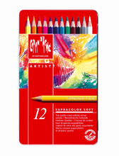 Artist Supracolor Soft Pencil Assort. 12 Box Metal   |  3888.312