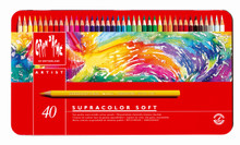 Artist Supracolor Soft Pencil Assort. 40 Box Metal   |  3888.340