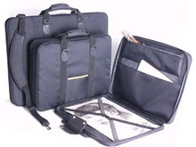 Florence Portfolio 'Soft Sided' Black Nylon Wide Body - A1