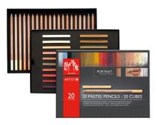 Pastel Portrait Assortment 20 Pencils + 20 Cubes   7880.520