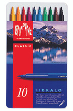 Fibralo Fibre-Tipped Pen Assort. 10 Box Metal  |  185.310