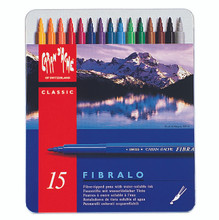 Fibralo Fibre-Tipped Pen Assort. 15 Box Metal   |  185.315