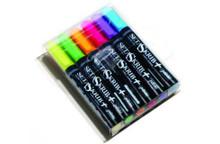 Setaskrib Set of 6 Fluoro Fabric Markers