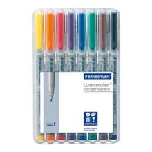Staedtler Lumocolor Non Permanent Fine - Box of 8 Colour (0.6mm)