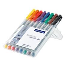 Staedtler Lumocolor Non Permanent Medium - Box of 8 Colour (1.0mm)