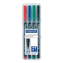 Staedtler Lumocolor Permanent Superfine - Box of 4 Colours (0.4mm)