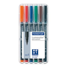 Staedtler Lumocolor Permanent Superfine - Box of 6 Colour (0.4mm)